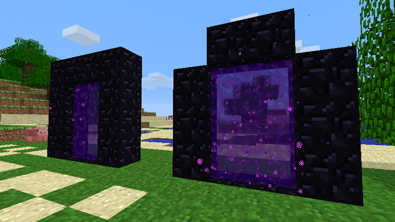 construire une porte vers le nether tuto minecraft. Black Bedroom Furniture Sets. Home Design Ideas